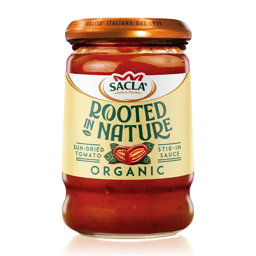 Sacla' Rooted In Nature Organic Sun-Dried Tomato Stir-In Sauce 190g