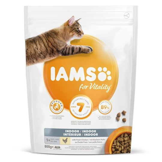 Iams for Vitality Cat Adult Indoor (10 kg)