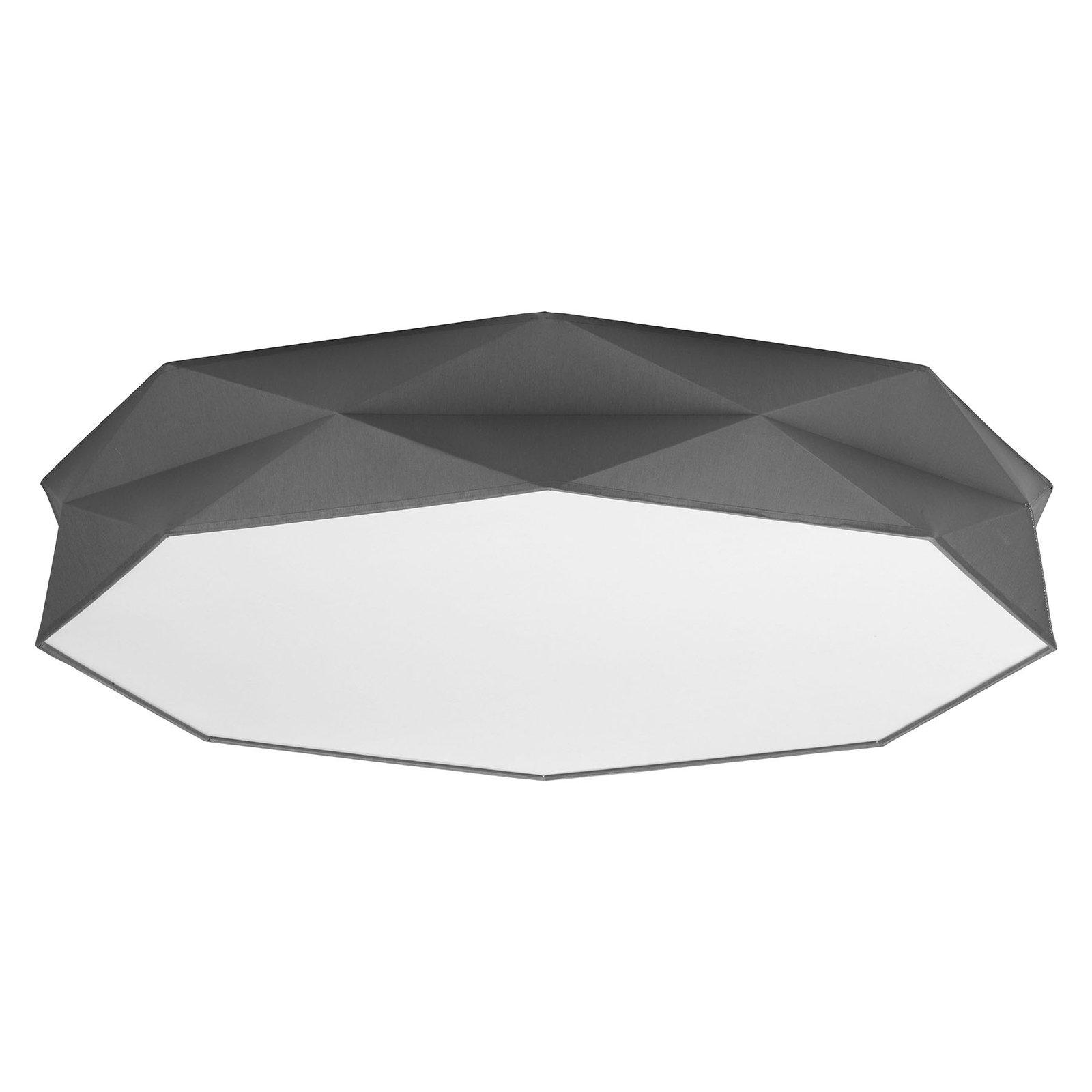 Taklampe Kantoor New, Ø 88 cm, hvit/grå