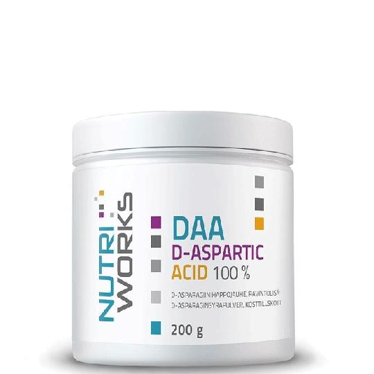 DAA d-aspartic acid 100%, 200 g, Natural