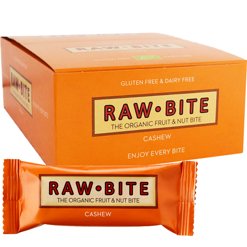 "Hel Låda Rawbar ""Cashew"" 12 x 50g - 50% rabatt"