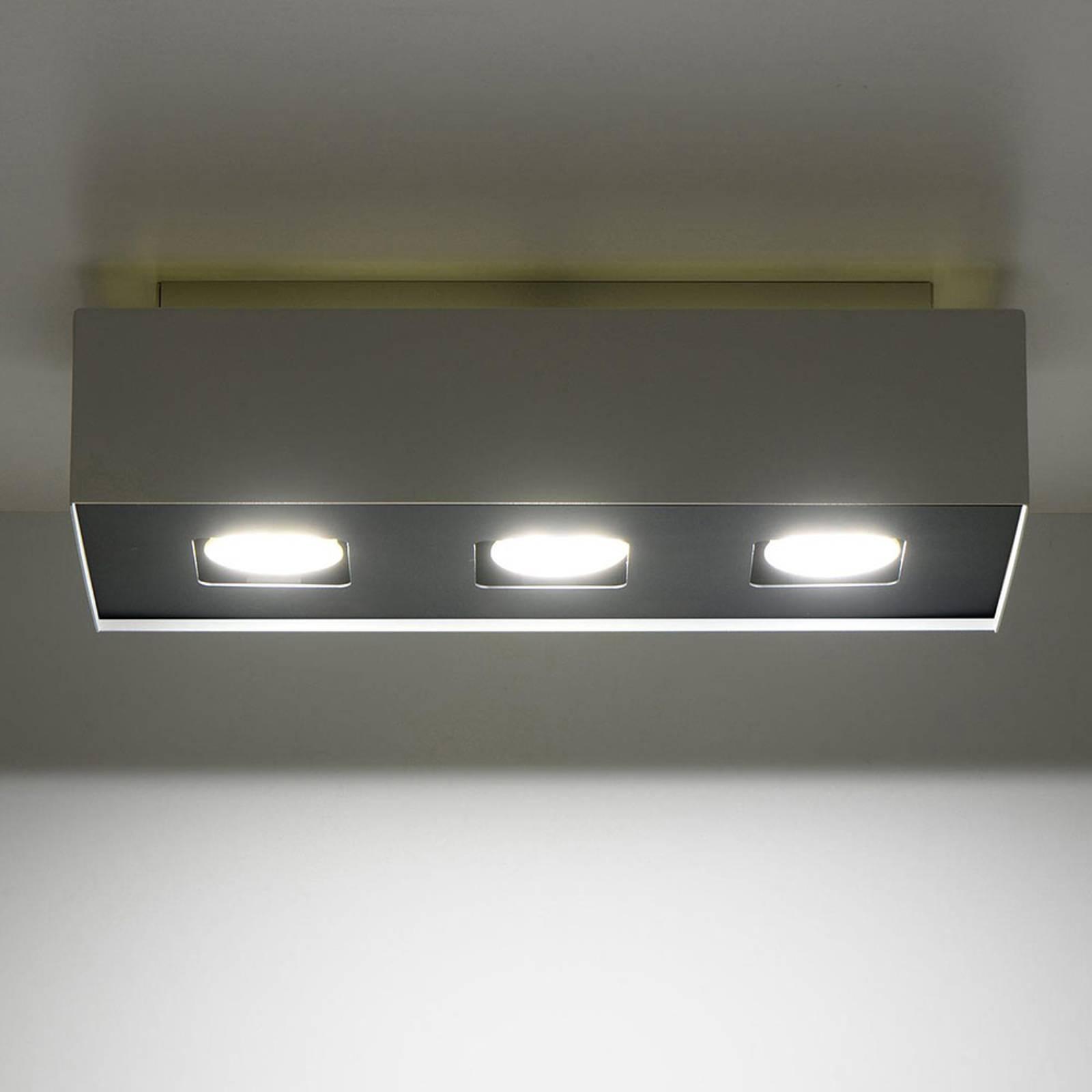 Kattovalaisin Kasi terästä, valkoinen 3-lamppuinen