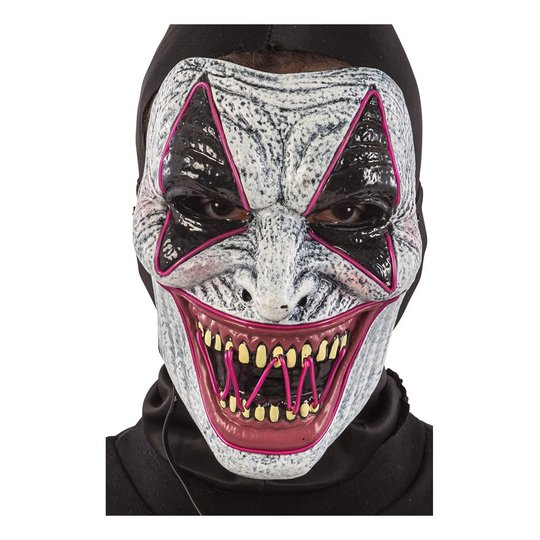 El Wire Horror Clown LED Mask - One size
