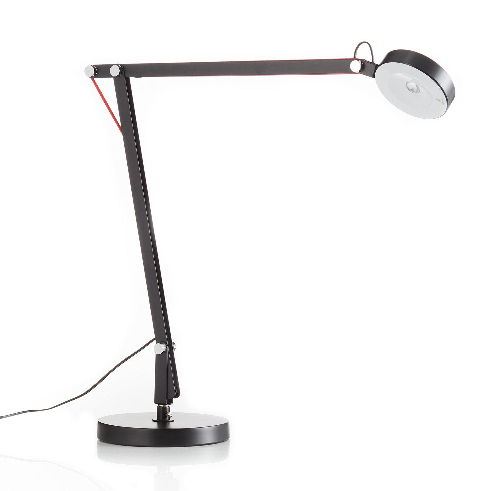LED-skrivebordslampe Stina av metall, svart