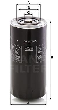 Öljynsuodatin MANN-FILTER W 1170/15
