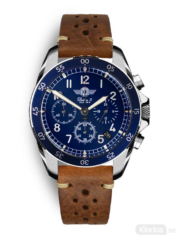 MALM Dalton 2 Blue Chronograph 41 Brown Race MW-DAII39BLUESWAF-LTD - Herrklocka