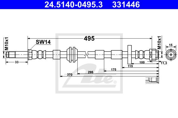 Jarruletku ATE 24.5140-0495.3