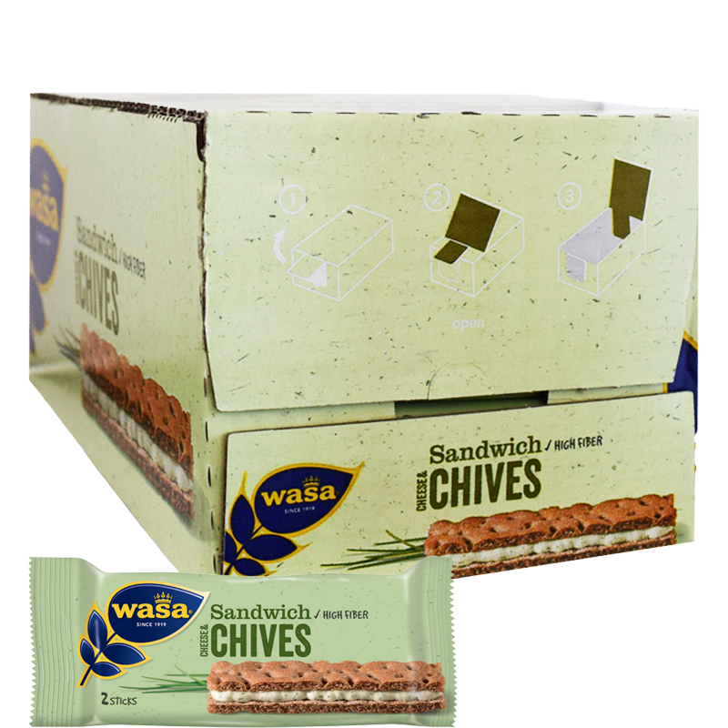"Hel Låda ""Sandwich Cheese & Chives"" 24 x 37g - 38% rabatt"