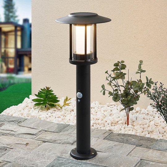 Lindby Volki - aurinkokäyttöinen LED-pollarilamppu