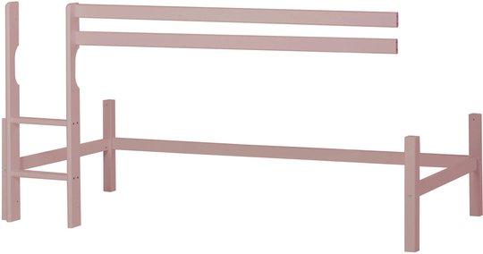 Hoppekids Halvhøy Modul 90x200 Basic, Pale Rose