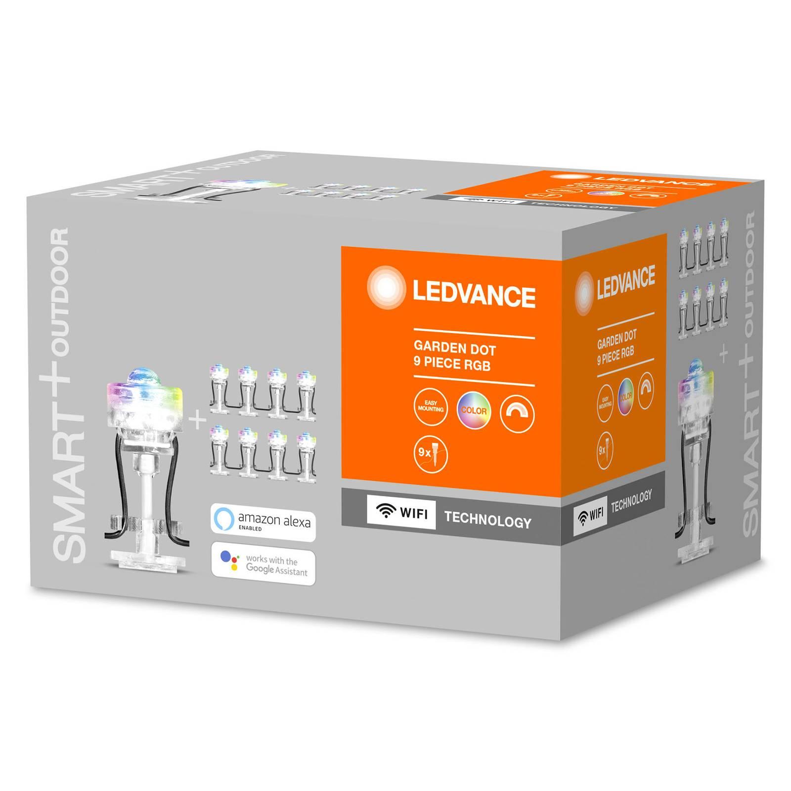 LEDVANCE SMART+ WiFi Garden Dot -LED-spotti, 9 kpl
