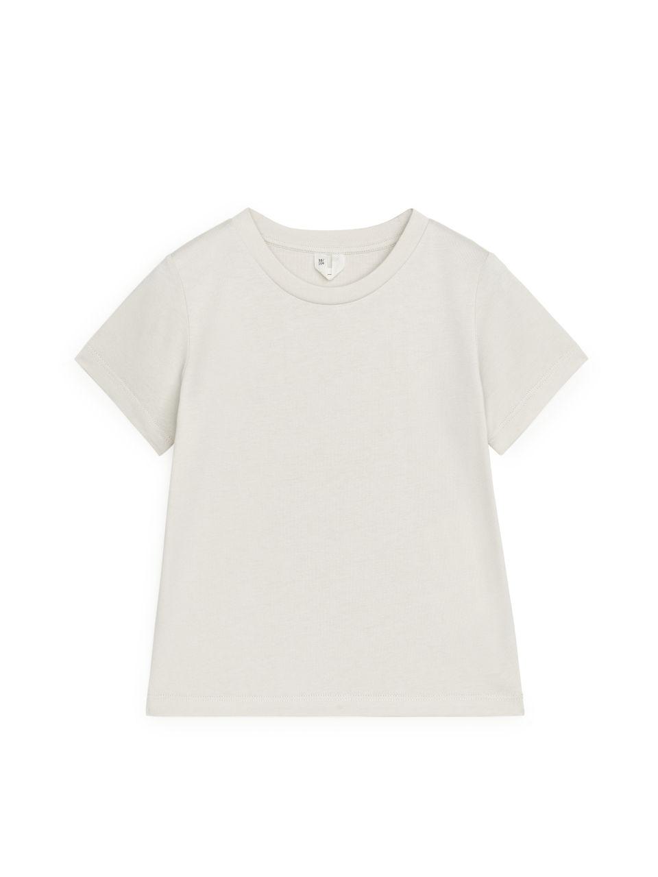 Crew-Neck T-shirt - Beige