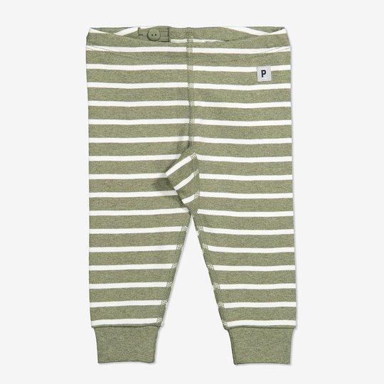 Stripet bukse baby grønn