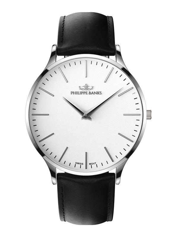 Philippe Banks Slimline 40 Black Leather 401-01-L01