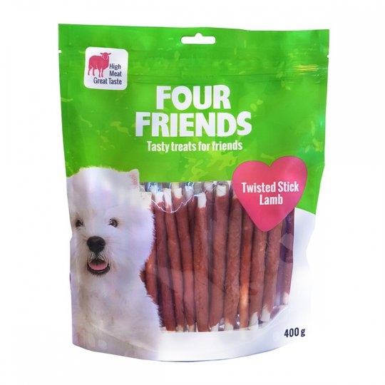 FourFriends Dog Twisted Stick Lamb 12,5 cm (40 pack)