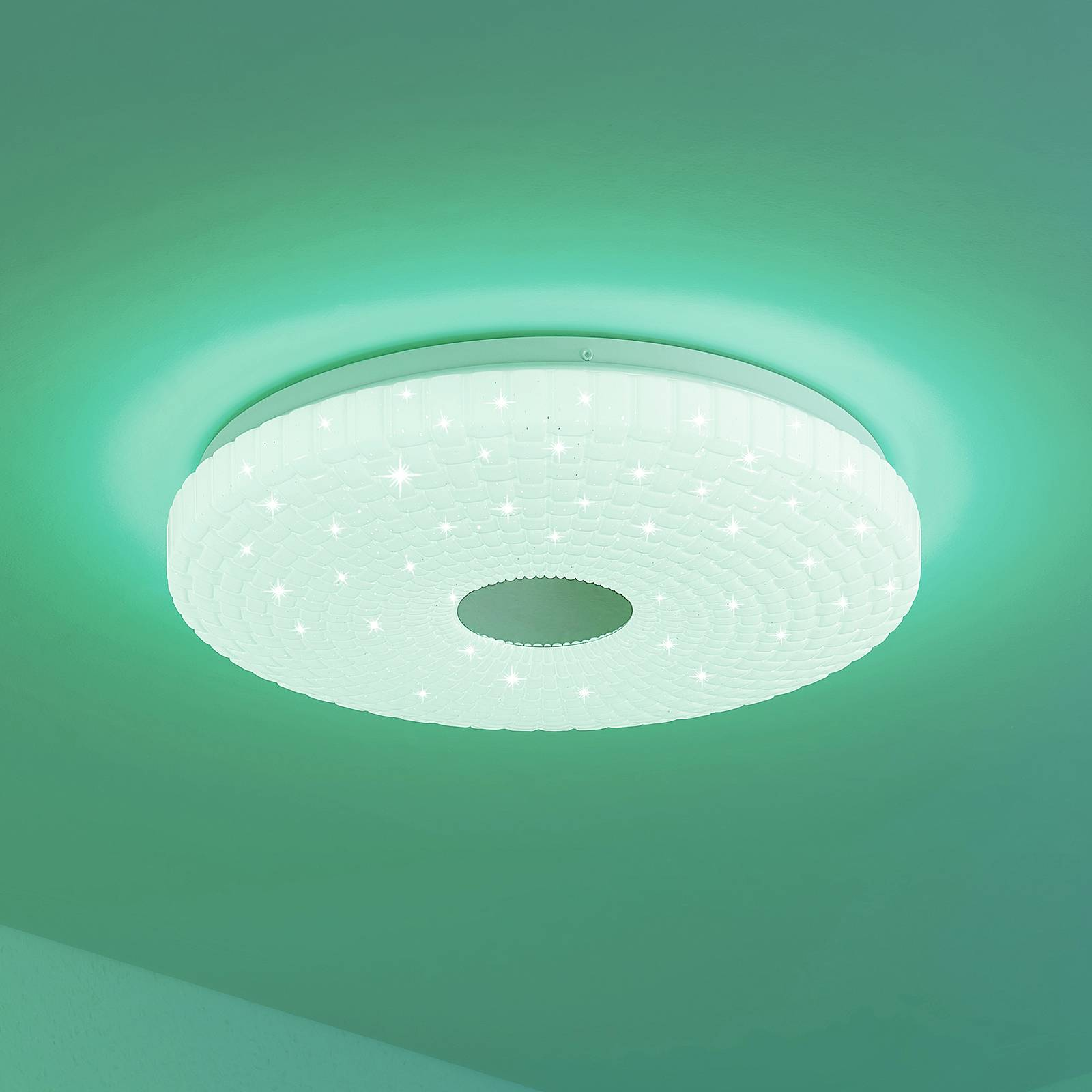 Lindby Laubini -LED-kattovalaisin RGBW, CCT, 38 cm