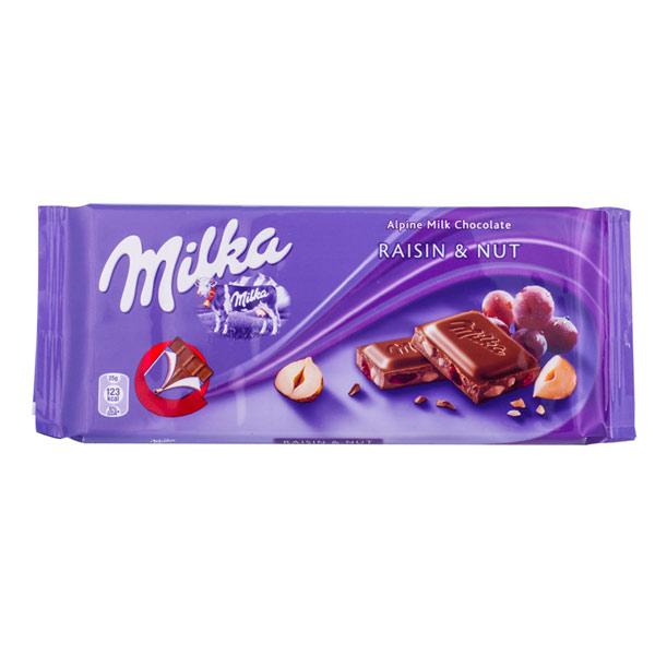 HEL LÅDA MILKA RAISIN NUTS 100G