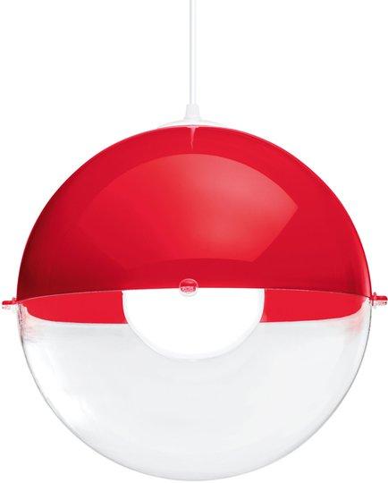 Koziol Taklampe Orion Gjennomsiktig, Rød