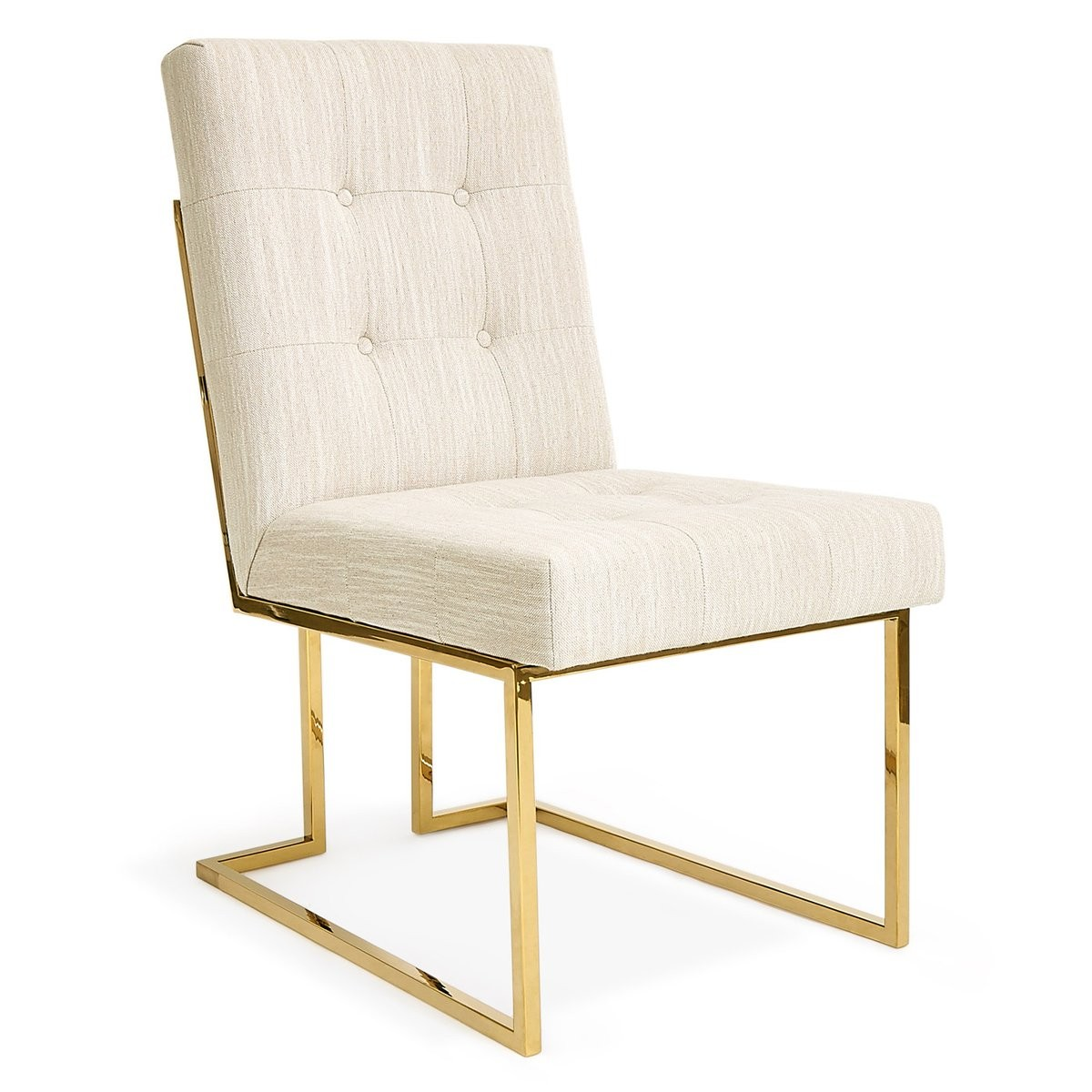 Jonathan Adler I Goldfinger Dining Chair I Romo Oatmeal