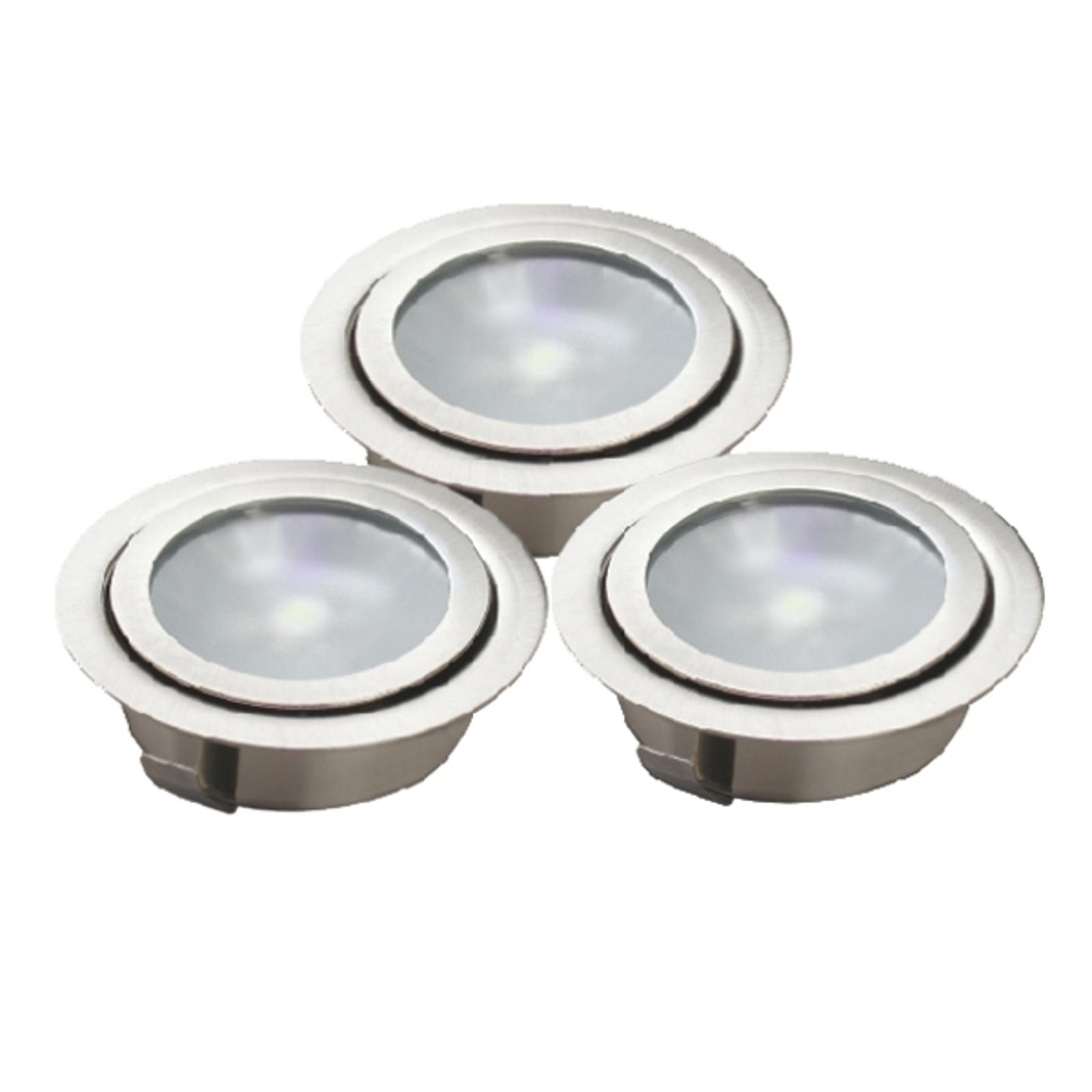 LUXA-LED-lattiauppovalaisin, 3-osainen sarja