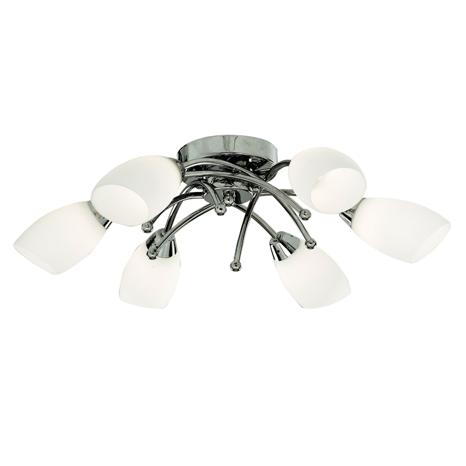 Ihana krominen, 6-lamppuinen OPERA-kattovalaisin
