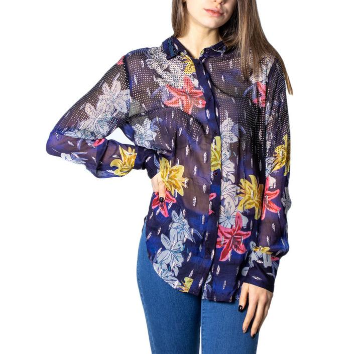 Desigual Women's Shirt Blue 171364 - blue XS