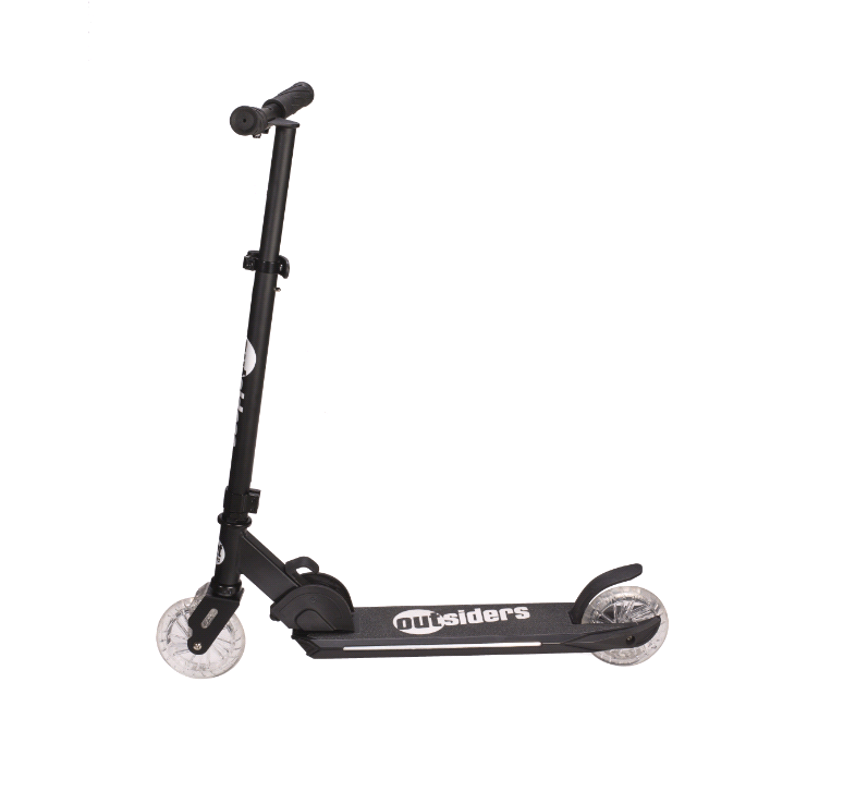 Outsiders - Aero Foldable Scooter with LED light Black (C2)