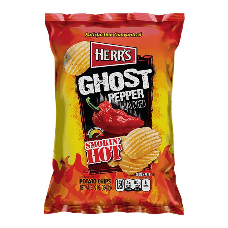 Herrs Smokin Hot Ghost Pepper Flavor Chips 184.3g