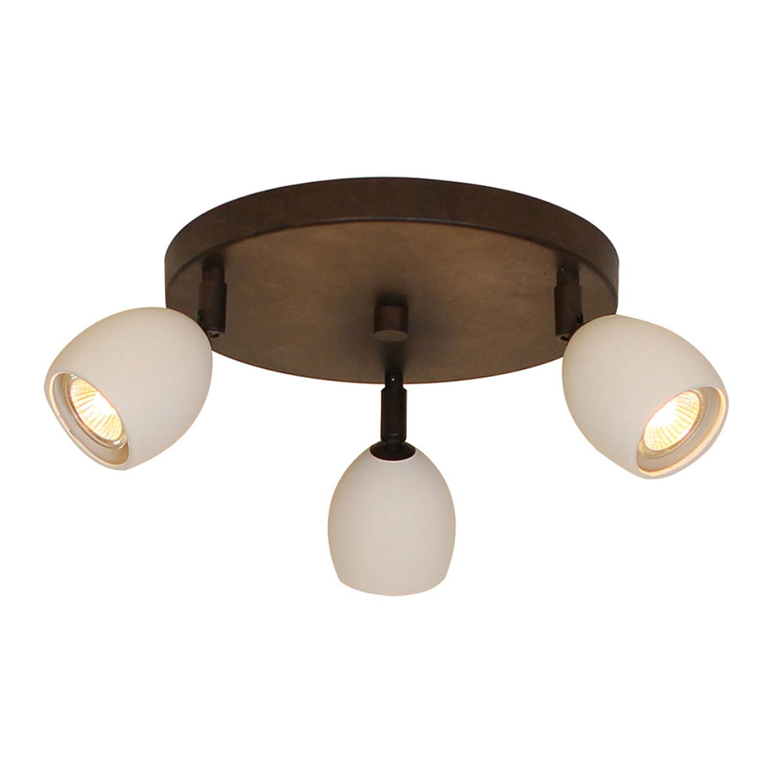 Menzel Provence matt -kattovalaisin, 3-lamppuinen