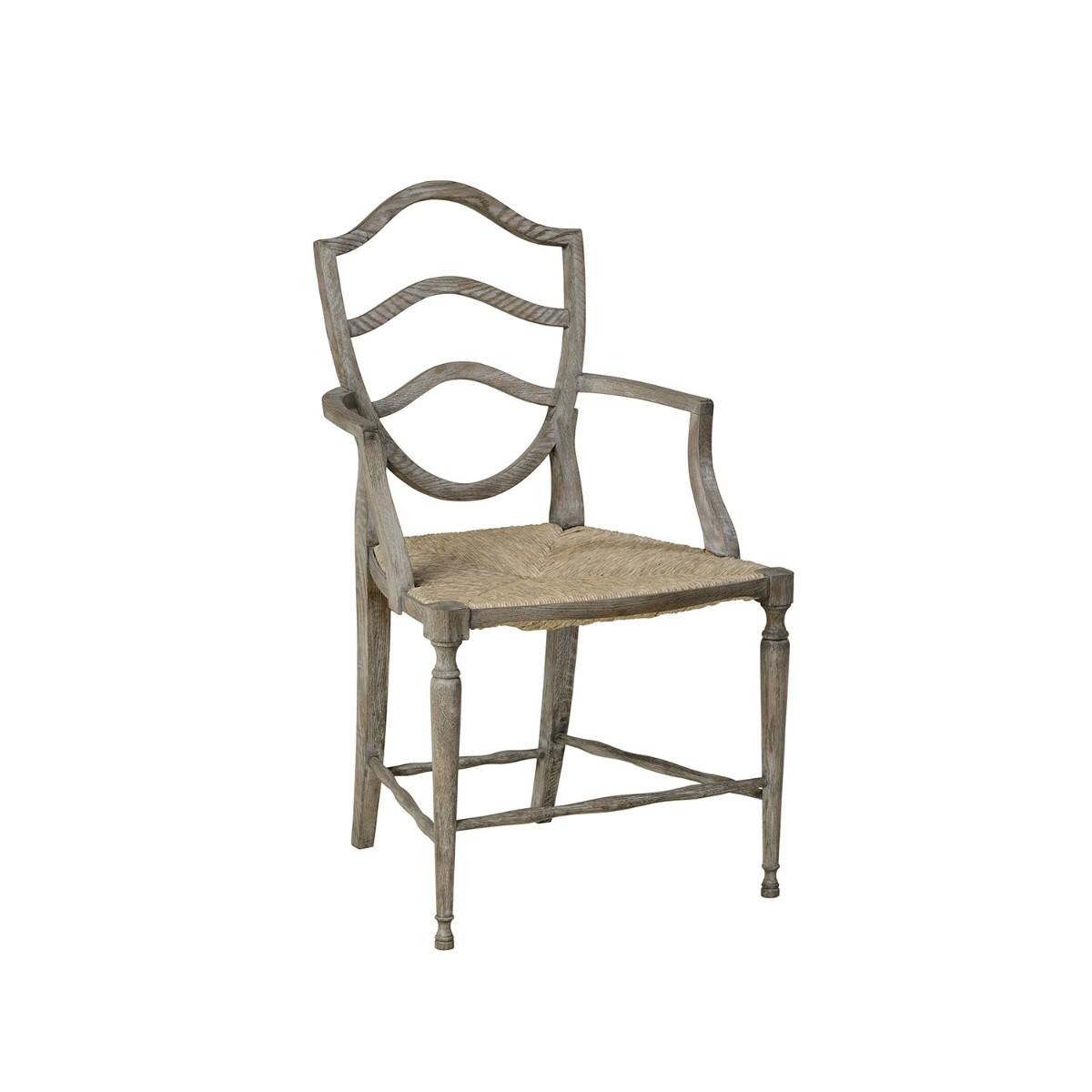 William Yeoward   Bodiam Carver Chair Greyed Oak