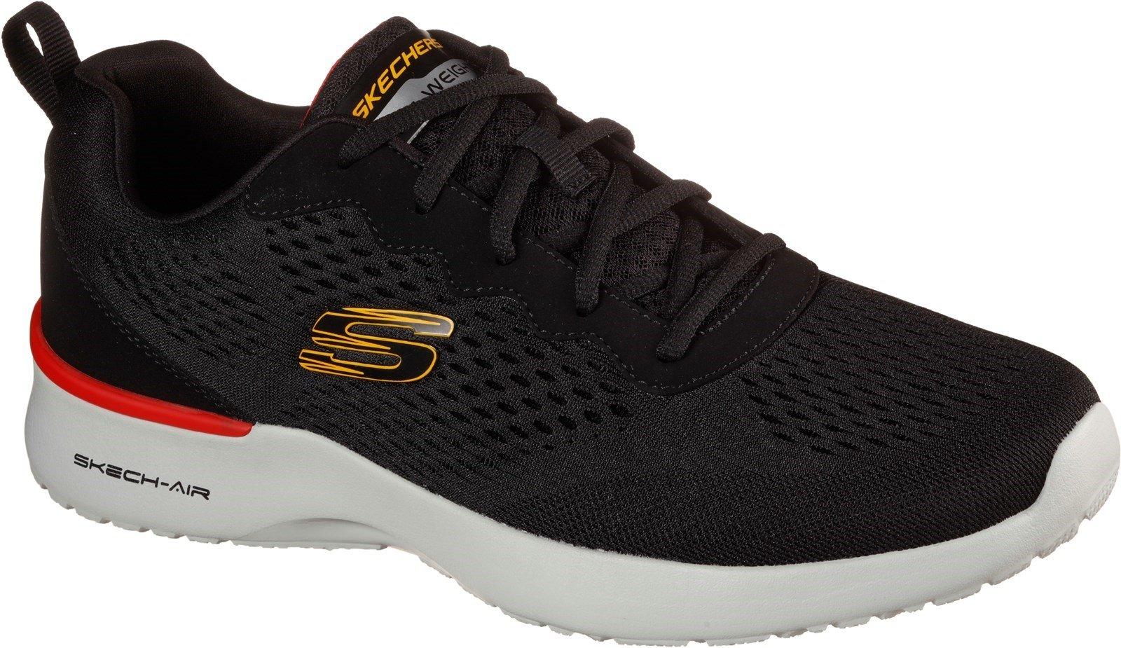 Skechers Men's Skech-Air Dynamight Sports Trainer Various Colours 32186 - Black/Black 6