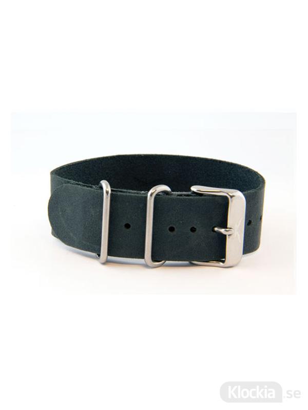GUL Armband Snapper Leather Nato Black 22mm 205060001