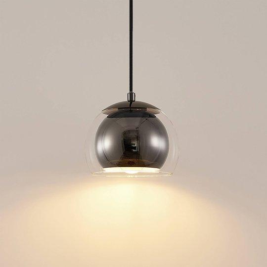 Lindby Daymien -riippuvalo 1-lamppuinen musta