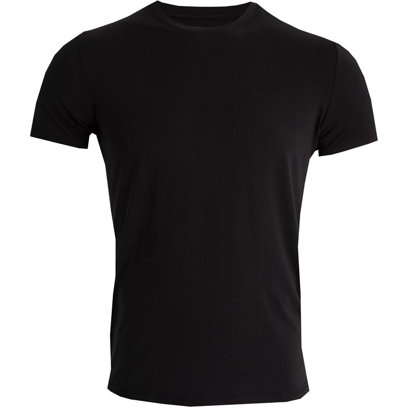 Tufte Crew Neck t-shirt S Black Beauty - Herre
