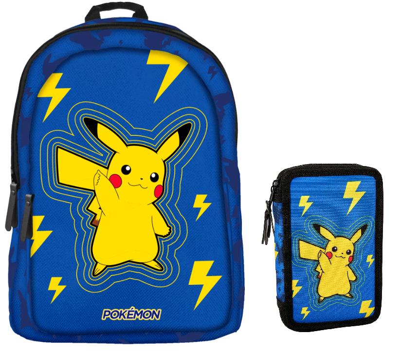 Pokemon - Backpack + Pencil Caser - Light Bolt