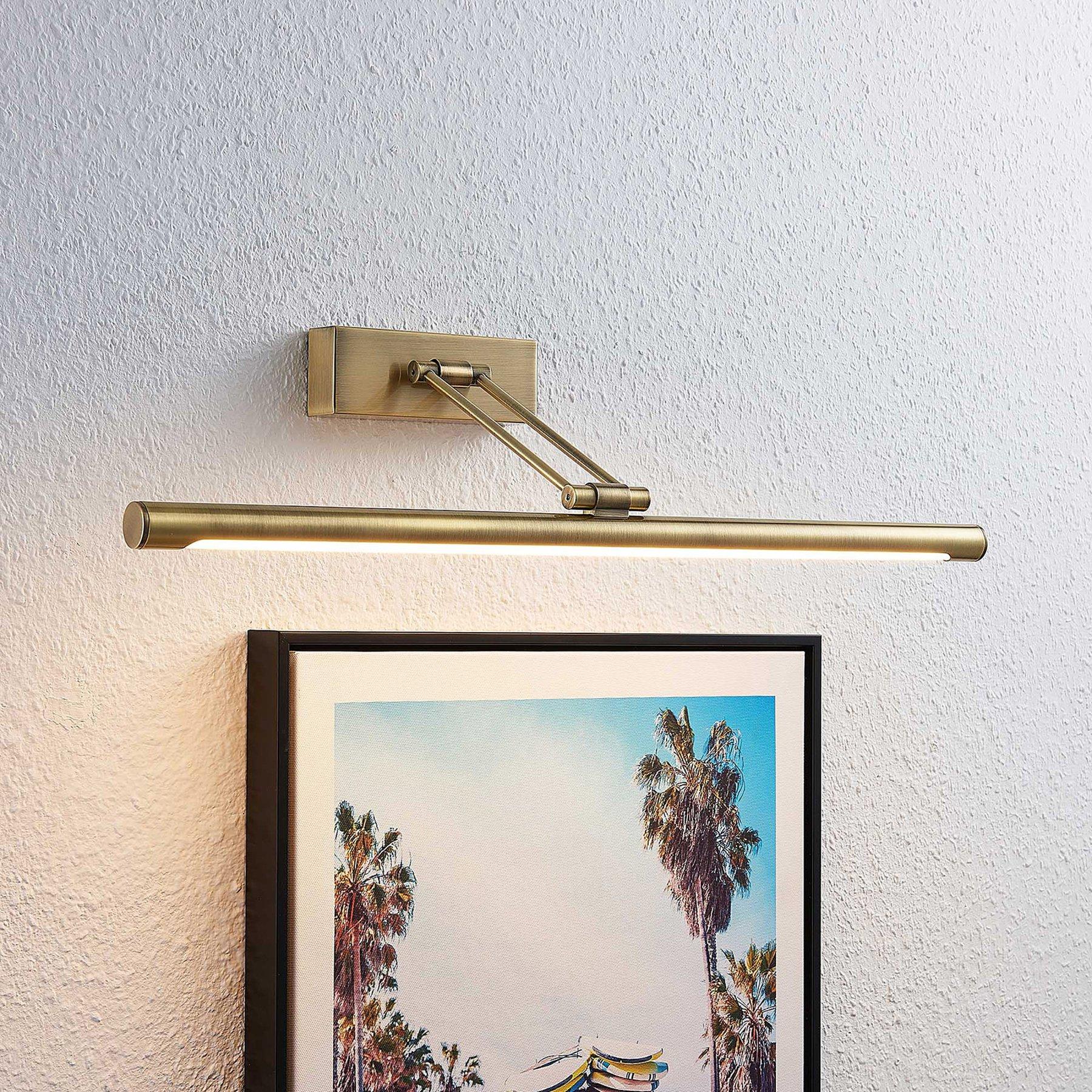 Lucande Dimitrij LED-bildelampe i antikk messing
