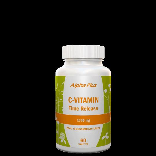 C-vitamin Time Relase 1000mg, 60 tabletter