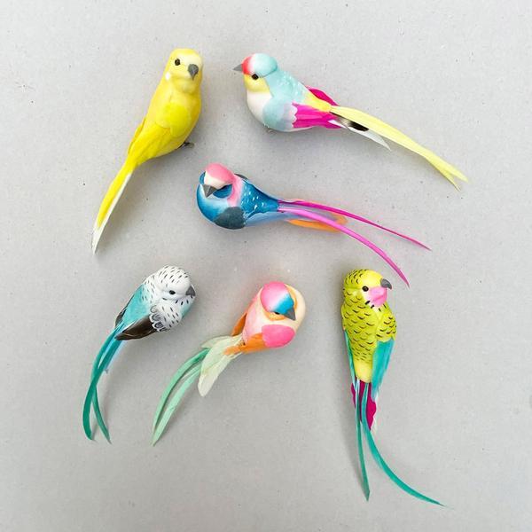Birds Clip On Decoration Set of 6