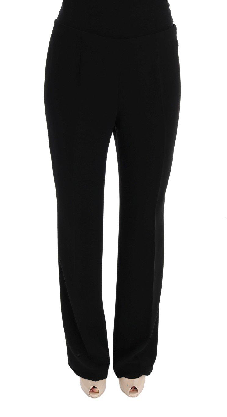 BENCIVENGA Women's Wool Straight Fit Trousers Black SIG50002 - IT50   XXL