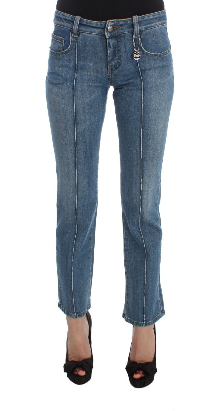 Costume National Women's Cotton Slim Fit Cropped Jeans Blue SIG30118 - W26