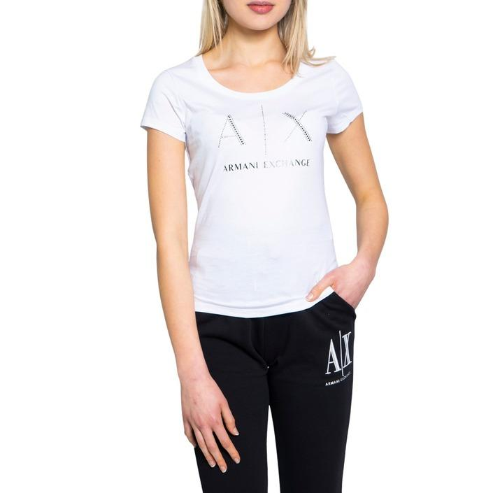 Armani Exchange Women's T-Shirt Various Colours 190484 - white XS