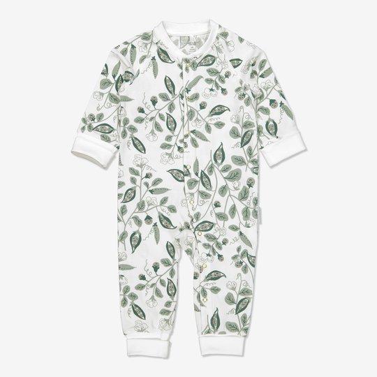 Dress med trykk baby hvit