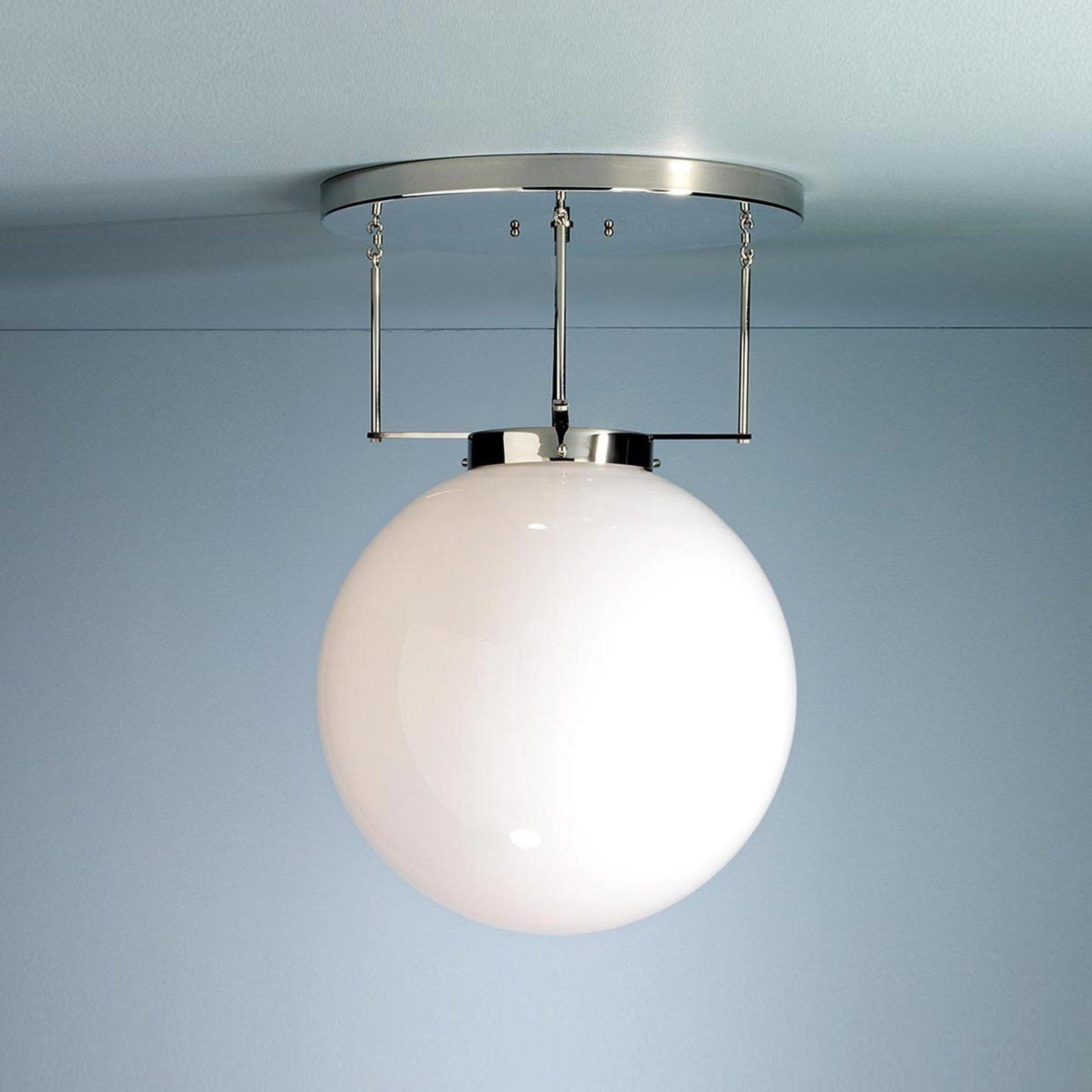 Brandts taklampe i Bauhaus-stil nikkel 30 cm