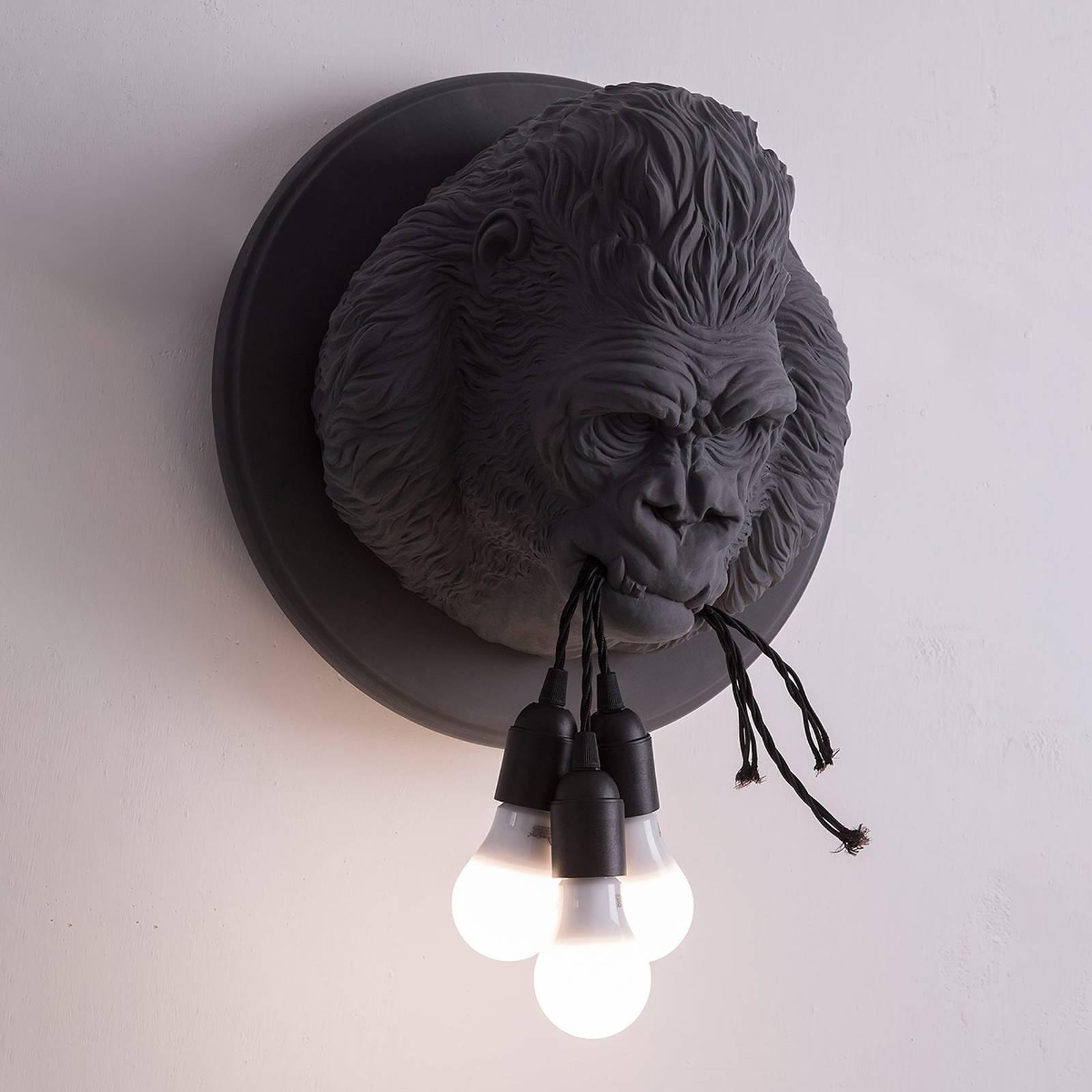 Karman Ugo Rilla - design-seinävalaisin, harmaa