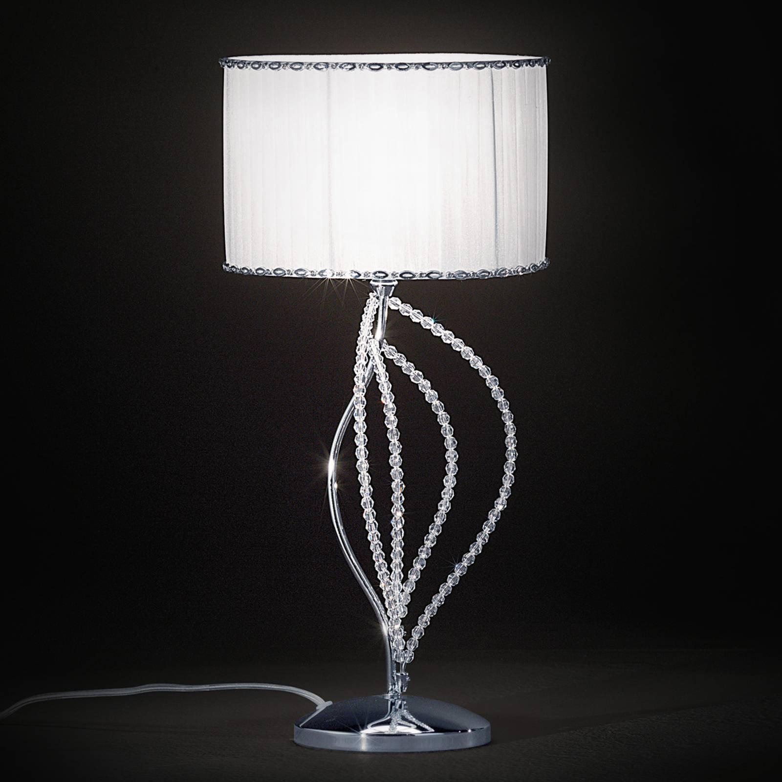 Girasole bordlampe med tekstilskjerm
