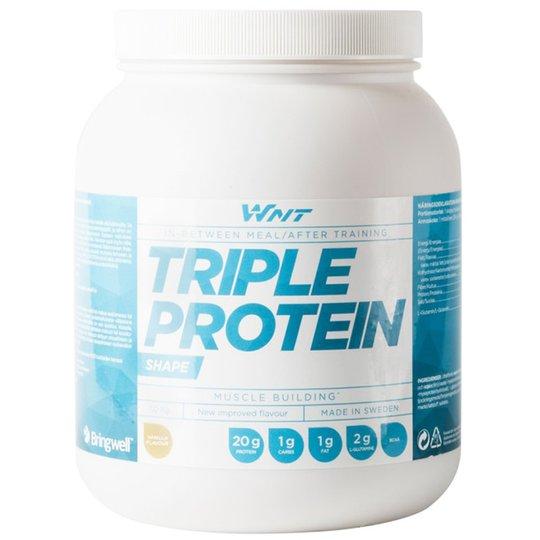 """Proteiinijauhe """"Triple Protein"""" Vanilja 1kg - 23% alennus"""