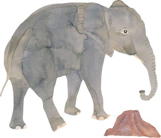 That's Mine Wallsticker Elephant