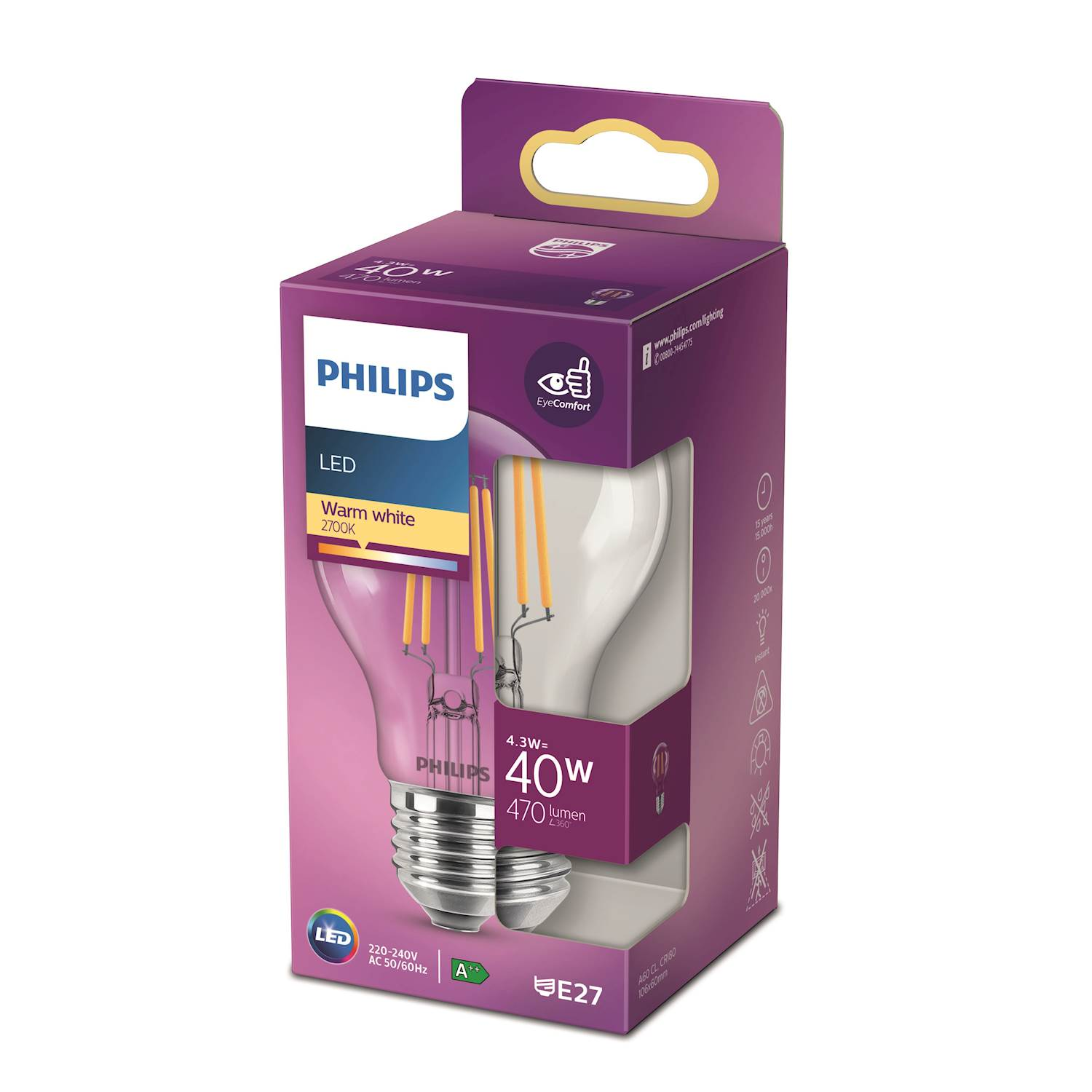 Philips LED Classic norm 40w e27 nd