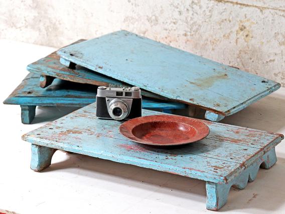 Vintage Blue Tray Blue