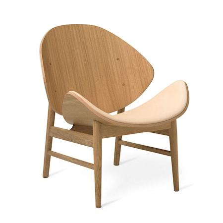 The Orange Lounge Chair S Nude Läder Vitoljad Ek